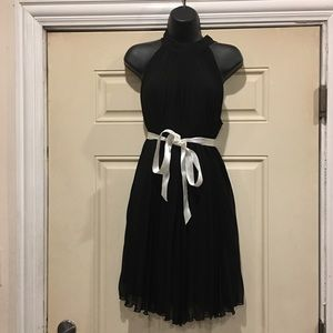 Benetton Black Pleated Dress
